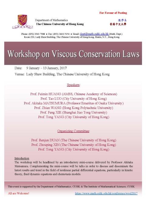 Workshop on Viscous Conservation Laws | CUHK Mathematics