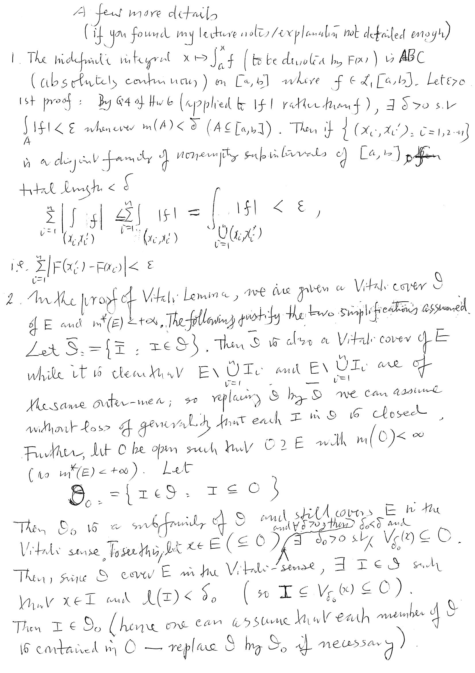 Real Analysis Lecture Notes For Msc Mathematics